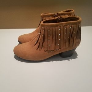 Piper Girl's Krista Fringed Bootie